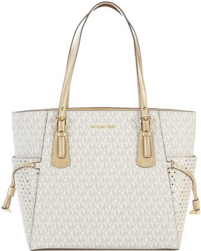MICHAEL Michael Kors Signature Voyager East/West Tote - VANILLA/GOLD - STYLE