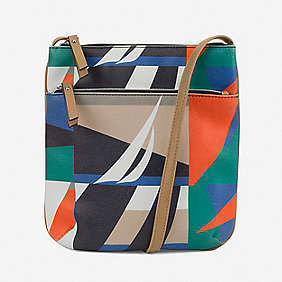 Banyan Printed North South Crossbody Bag