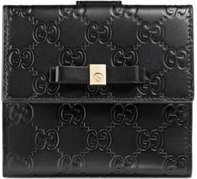 Gucci Bow Signature wallet - BLACK GUCCI SIGNATURE - STYLE