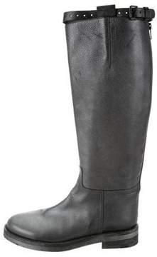 Ann Demeulemeester Metallic Knee-High Boots