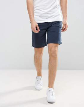 Pull&Bear Denim Shorts In Navy