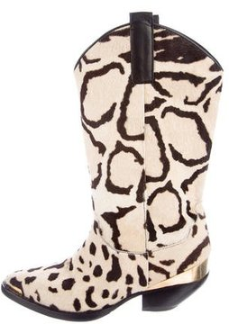Fausto Puglisi Ponyhair Ankle Boots