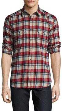 Gilded Age Men's Whyatt Brushed Twill Flannel Sportshirt