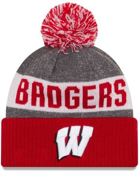 New Era Adult Wisconsin Badgers Sport Knit Beanie