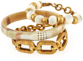 Ashley Pittman Three-Piece Bangle/Bracelet Set