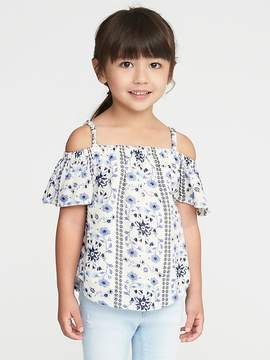 Old Navy Floral Crepe Off-the-Shoulder Top for Toddler Girls