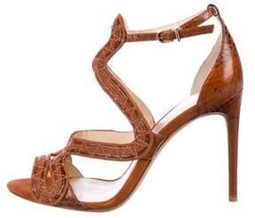Alexandre Birman Embossed Caged Sandals