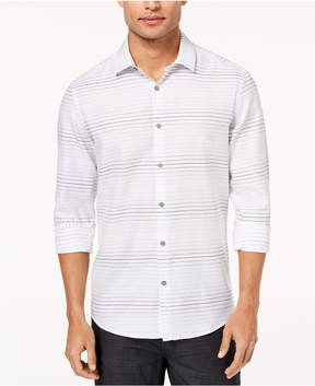 Alfani Men's Ombre Broken-Stripe Shirt, Created for Macy's