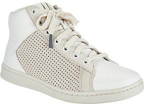 ED Ellen Degeneres As Is Leather High Top Sneakers - Camarilo 2