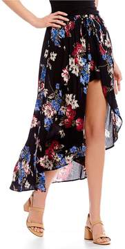 Angie Floral-Printed Walk-Through Maxi Skirt