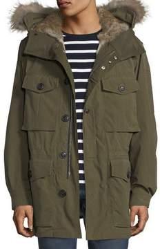 Burberry Fur-Lined Parka Coat