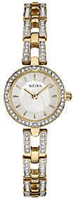 Bulova Women's Goldtone/Silvertone Crystal Bracelet Watch