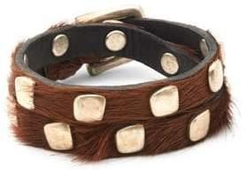 Uno de 50 Calf Hair Studded Bracelet