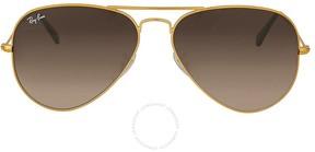 Ray-Ban Brown Gradient Aviator Sunglasses