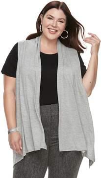 Apt. 9 Plus Size Sleeveless Cardigan