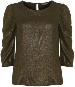 Dorothy Perkins Gold 'Jennifer' Puff Sleeve Top