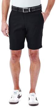 Haggar Men's In Motion Melange Flat-Front Shorts