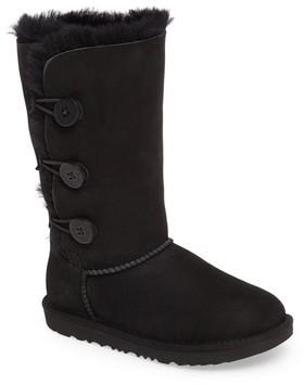 UGG Girl's Bailey Button Triplet Ii Genuine Shearling Boot