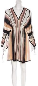 Temperley London Cold-Shoulder Knit Dress