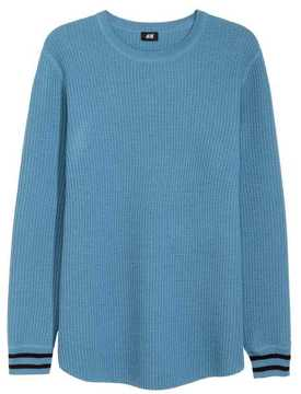 H&M Textured Wool-blend Sweater