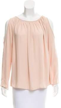 Amanda Uprichard Cutout-Accented Long Sleeve Top