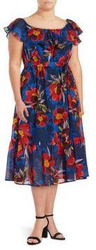 Context Plus Floral Off-the-Shoulder Dress