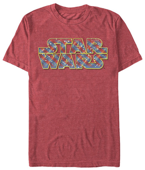 Fifth Sun Star Wars Red Heather Wrapping Logo Tee - Men's Regular