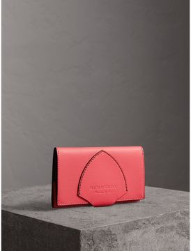 Burberry Equestrian Shield Two-tone Leather Continental Wallet