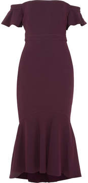 Rachel Zoe Devin Off-the-shoulder Stretch-crepe Dress - Plum