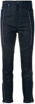Diesel Black Gold cord-embellished straight leg jeans