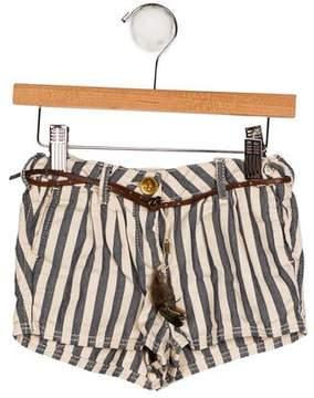 Scotch R'Belle Girls' Striped Mini Shorts
