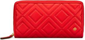Tory Burch FLEMING ZIP CONTINENTAL WALLET - EXOTIC RED - STYLE