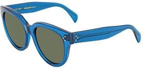 Celine Thin Shadow Grey-Green Rectangular Sunglasses CL41435S T9185