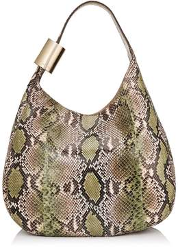 Jimmy Choo STEVIE Lime and Rosewater Degrade Painted Python Shoulder Bag