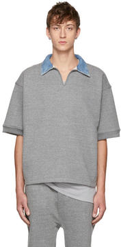 Fear Of God Grey Terry V-Neck Polo