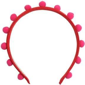 La Stupenderia Grosgrain Headband W/ Pompoms