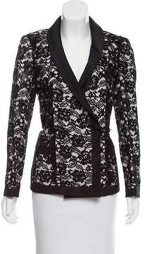 Chanel Silk-Trimmed Lace Blazer
