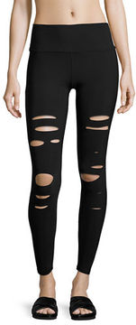 Alo Yoga Ripped Warrior Performance Leggings