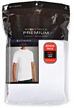 Fruit of the Loom Premium Crewneck Tees 4+1 Bonus Pack