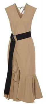 Derek Lam 10 Crosby Ruffled Cotton Midi Dress