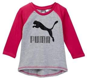 Puma 3/4 Length Sleeve Raglan Tee (Big Girls)