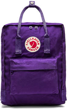 Fjallraven Kanken in Purple.