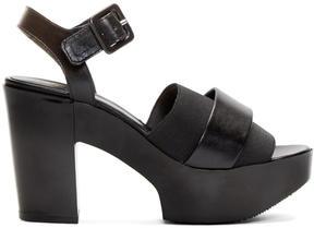 Robert Clergerie Black Heeled Culturk Sandals