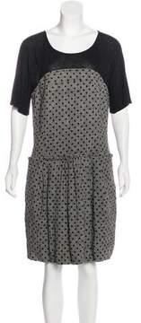 See by Chloe Jacquard Wool Dress