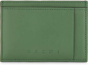 Marni Mens Green&Brown Soft Smooth Leather Cardholder