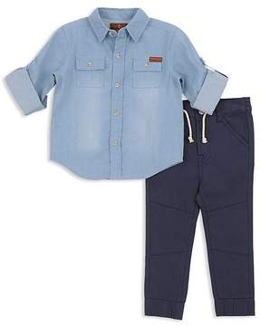 7 For All Mankind Boys' Denim Shirt & Joggers Set - Baby