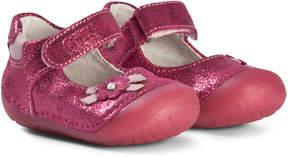 Primigi Pink Flower Applique Mary Jane Shoes