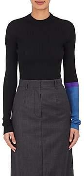 CALVIN KLEIN 205W39NYC Women's Contrast-Sleeve Wool-Blend Sweater