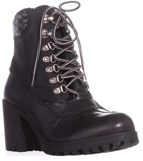 Rock & Candy Mila Lug Sole High Top Ankle Boots, Black.