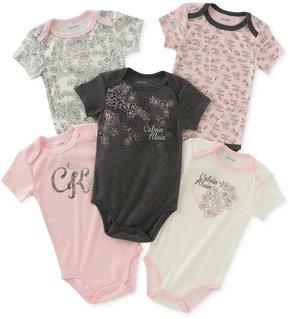 Calvin Klein 5-Pk. Floral Bodysuits, Baby Girls (0-24 months)